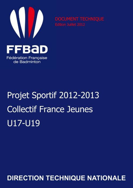 Télécharger le document - Fédération Française De Badminton