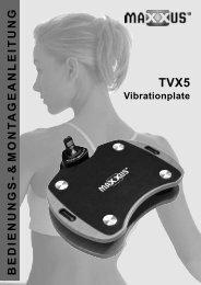 TVX 5 Montage- und Bedienungsanleitung - MAXXUS