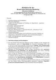 Richtlinien für den Besuch beim Deutschen Bundestag - Siegmund ...