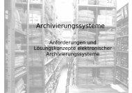 Archivierungssysteme