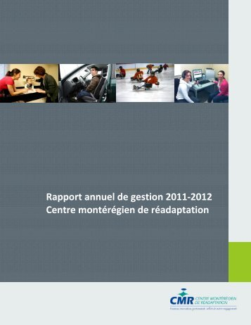 Rapport annuel de gestion 2011-2012 Centre montérégien de ...