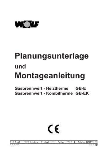 Planungsunterlage Montageanleitung - Wolf