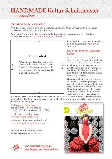 Jogginghose Schnittmuster - Handmade Kultur