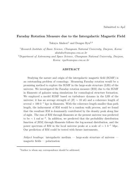 Faraday Rotation Measure due to the Intergalactic Magnetic Field