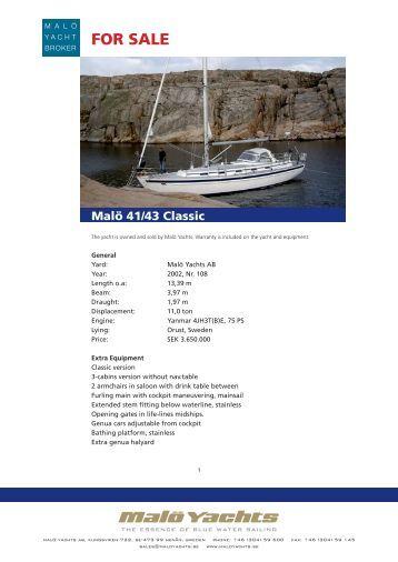 UsedBoat_Malö 41-43 Classic - 108.indd - Malö Yachts