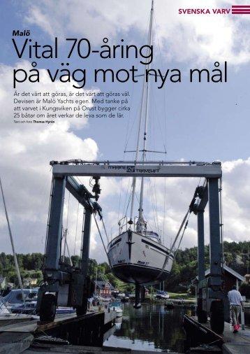 Vital 70-åring på väg mot nya mål - Malö Yachts