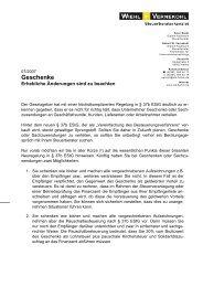 Geschenke - Steuerberater Wiehl & Vernekohl