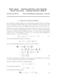 PHY-10012 OSCILLATIONS AND WAVES Keele University Spring ...