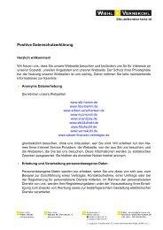 Positive Datenschutzerklärung - Wiehl & Vernekohl