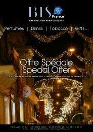 Offre Spéciale Special Offer - BIS France
