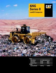Specalog for 826G Series II Landfill Compactor ... - Kelly Tractor