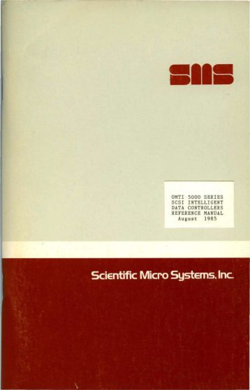 omti 5000 series scsi intelligent data controllers reference manual