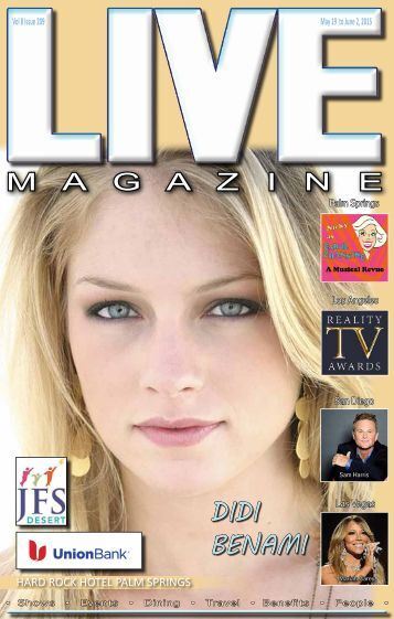 LIVE MAGAZINE VOL 8, Issue #209 May 19th THRU June 2nd, 2015