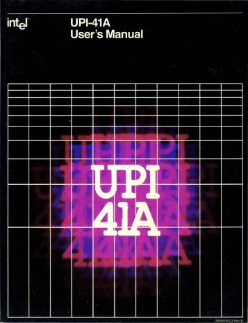 UPI 41A Users Manual 1980 - Bitsavers - Trailing-Edge