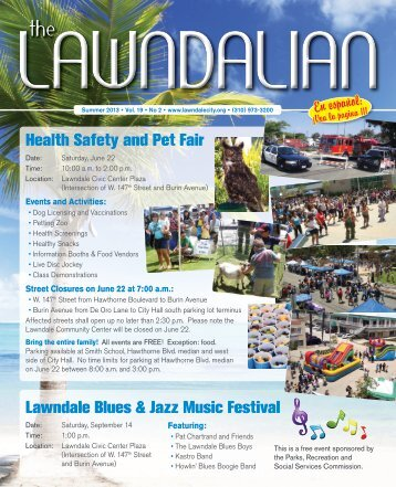 Health Safety and Pet Fair Lawndale Blues & Jazz ... - eNEWSjet