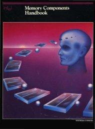 Intel Memory Components Handbook 1984 - Al Kossow's Bitsavers