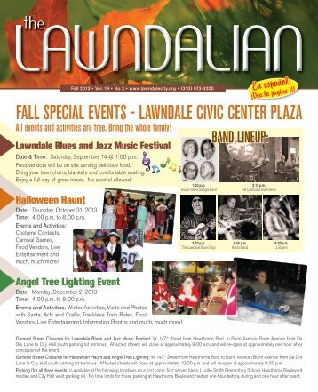 Fall Special eventS - lawndale civic center plaza - eNEWSjet