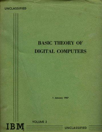 BASIC THEORY OF DIGITAL COMPUTERS