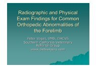 Radiographic and Physical Exam Findings for Common Orthopedic ...