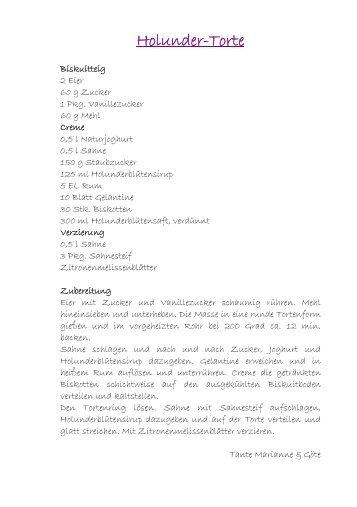 Holunder-Torte