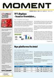 TFT displays - hvad er fremtiden... Nye platforme fra Intel - M-COMP