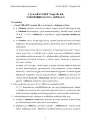 Magyar Szabadalmi Hivatal - NymE-ERFARET Nonprofit Kft.