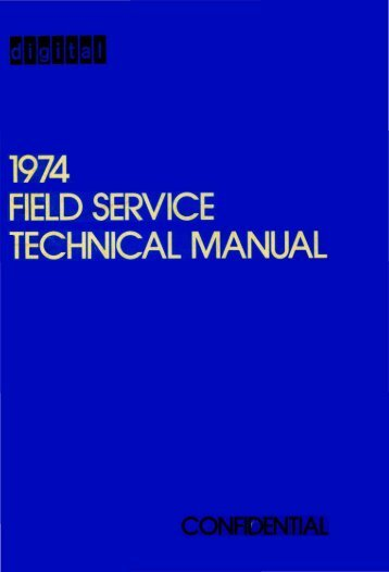 mamalla I FIELD SERVICE TECHNICAL MANUAL - FTP