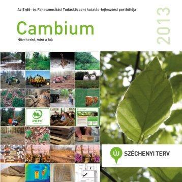 2013 Cambium.indd - NymE-ERFARET Nonprofit Kft.