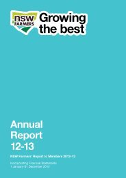2012/13 Annual Report - NSW Farmers Association
