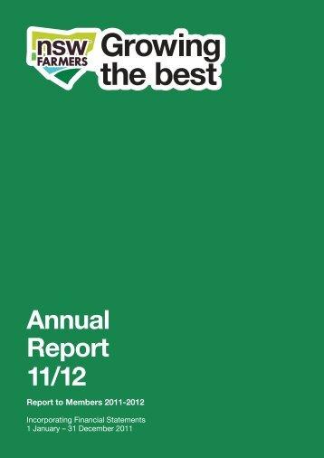 2011/12 Annual Report - NSW Farmers Association