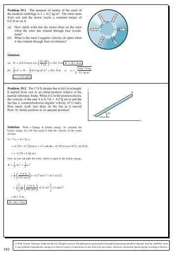 Problem 19.1 The moment of inertia of the rotor of the ... - Aerostudents