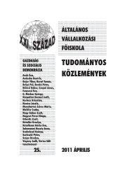 Gazdaság és szociális demokrácia - Általános Vállalkozási Főiskola