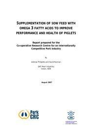 Supplementation of sow feed with omega 3 fatty acids ... - Apri.com.au