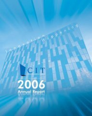 CIT Annual Report 2006 - Center for Innovative Technology