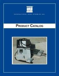 PRODUCT CATALOG - International Road Dynamics Inc.