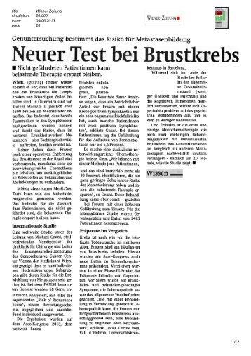 Wiener Zeitung, 4.6.2013 - ABCSG