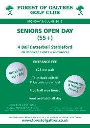 entry form senior 55+ open competition - Forest of Galtres Golf Club