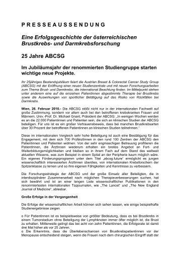 Download Presseaussendung - ABCSG