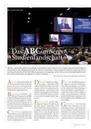Das ABCunserer Studienlandschaft - ABCSG