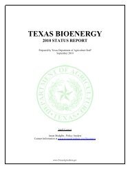 texas bioenergy 2010 status report - Texas Department of Agriculture