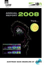 ANNUAL REPORT Think... - Institute of Biophysics and ...