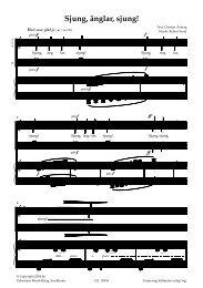 Visa utdrag (PDF) - Gehrmans Musikförlag