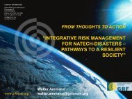 integrative risk management for natech-disasters – pathways to a ...