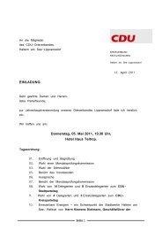 Tagesordnung - CDU-Lippramsdorf