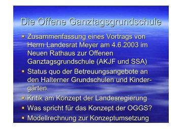 Die Offene Ganztagsgrundschule - CDU-Lippramsdorf