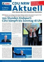 100-Stunden-Endspurt - CDU-Lippramsdorf