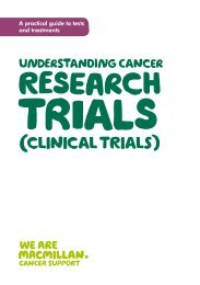 Understanding cancer research trials (clinical ... - Macmillan Cancer