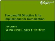 The Landfill Directive and its implication for the remediation ... - Starnet