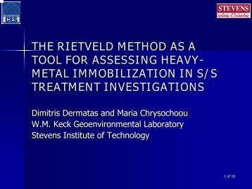 the rietveld method as a tool for assessing heavy-metal ... - Starnet