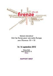 Unir les forces pour une autre Europe vers Florence ... - Ander Europa